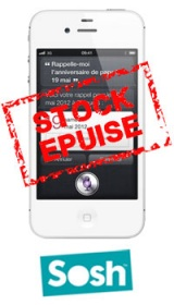 Sosh vend l'iPhone 4S à 319€!